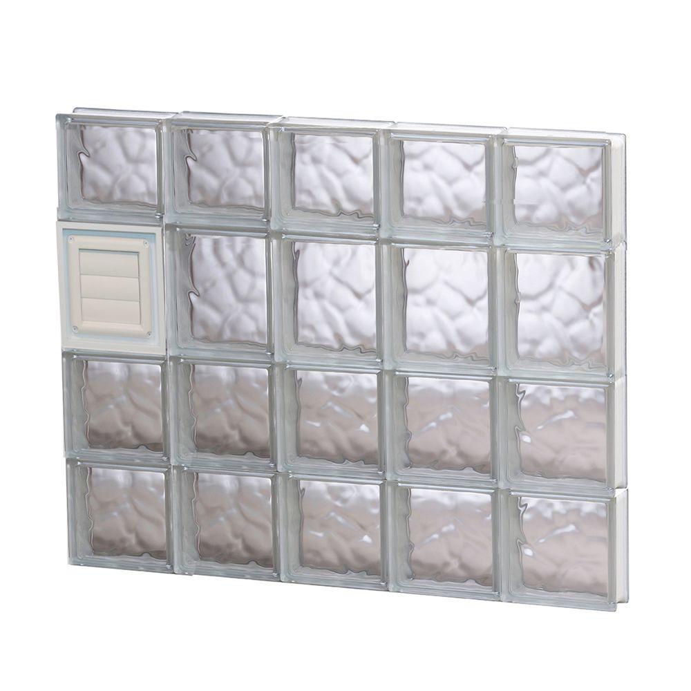 28.75 in. x 25 in. x 3.125 in. Wave Pattern Glass