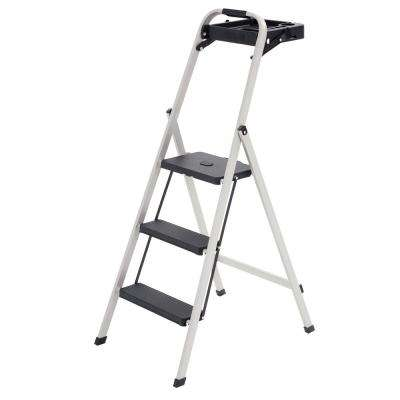 Skinny Mini 3-Step Steel Step Stool, 225 lbs. Load Capacity Type II Duty Rating