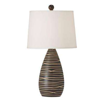 Catherine 22 in. CFL Coffee Table Lamp with Fabric Shades