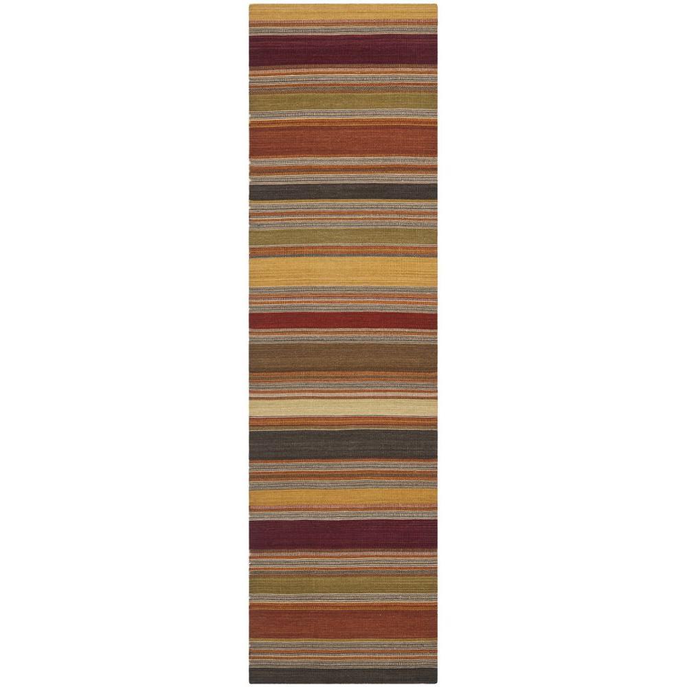Striped Kilim Gold 2 ft. x 6 ft. Runner Rug