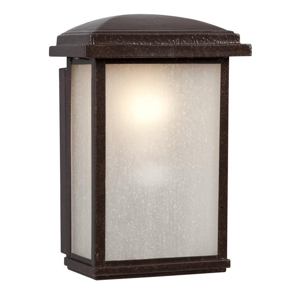 Filament Design Negron 1-Light Outdoor Bronze Wall Lantern