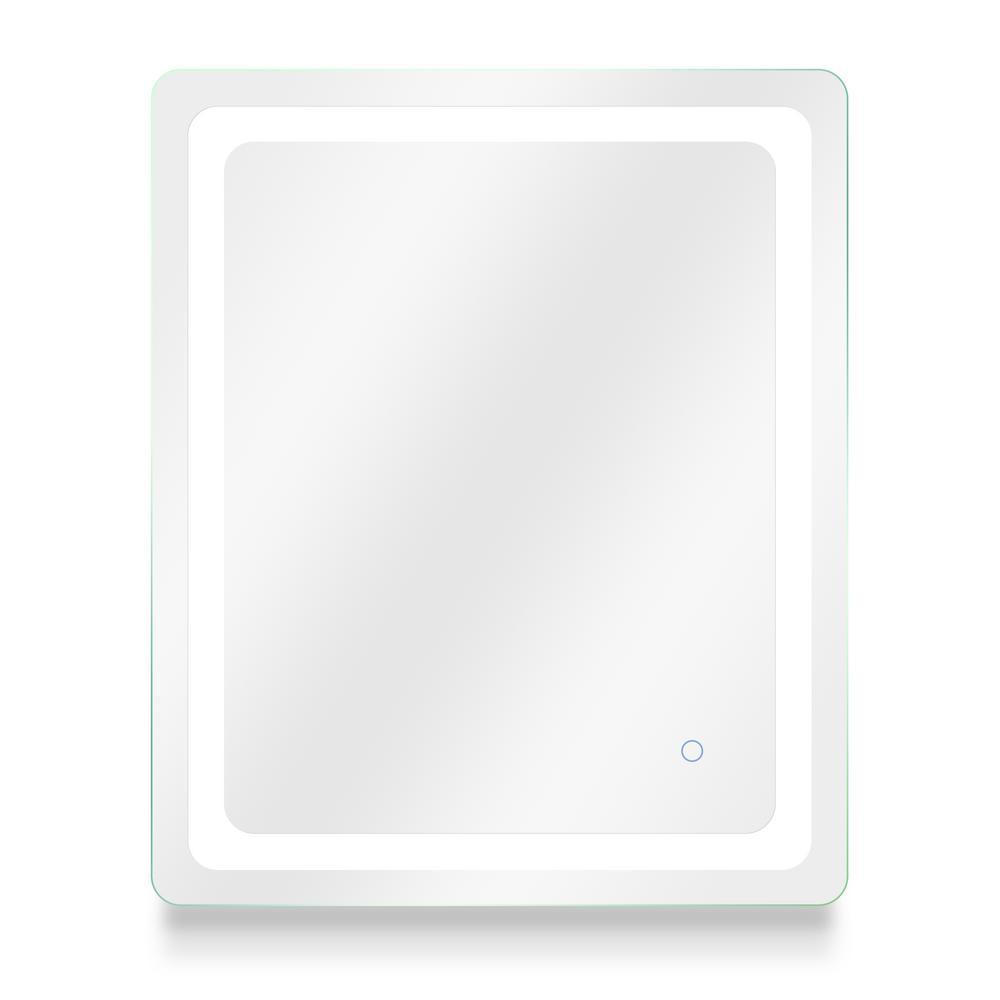 Egret 30 in. W x 36 in. H Frameless Rectangular LED Light Bathroom Vanity Mirror