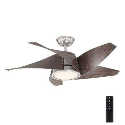 Broughton 42 in. LED Brushed Nickel Ceiling Fan with Remote Control