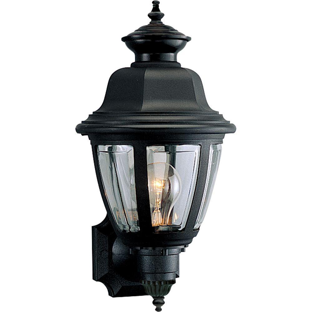 Progress Lighting Black 16 in  Outdoor Wall Lantern Sconce