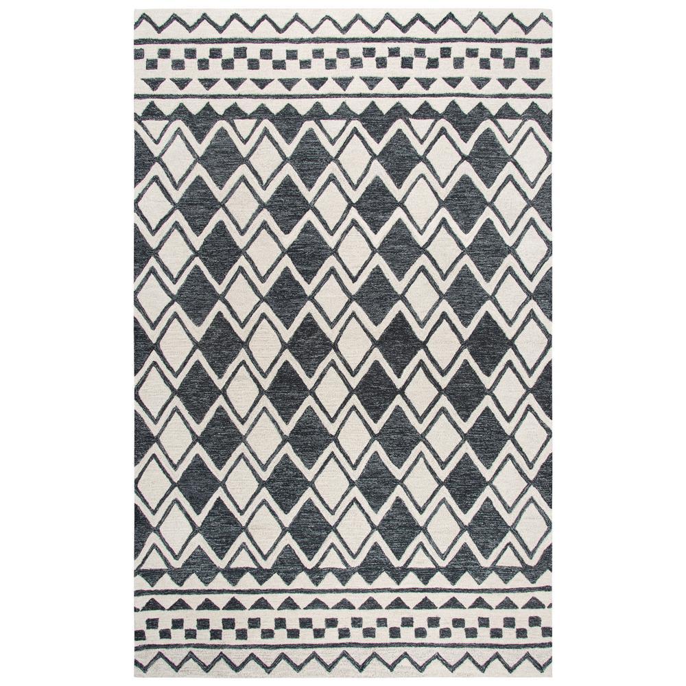 Idyllic Ivory/Dark Gray 8 ft. x 10 ft. Rectangle Area Rug