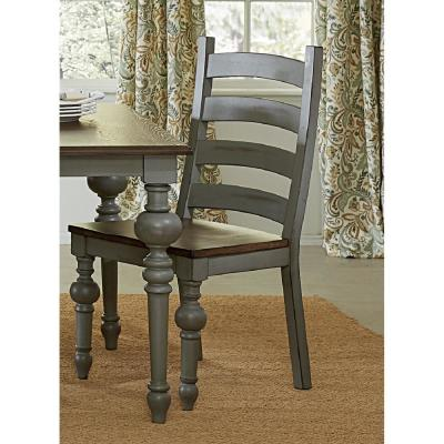 Progressive Furniture Colonnades Putty and Oak Ladder Dining Chairs (2-Count), Putty/Oak