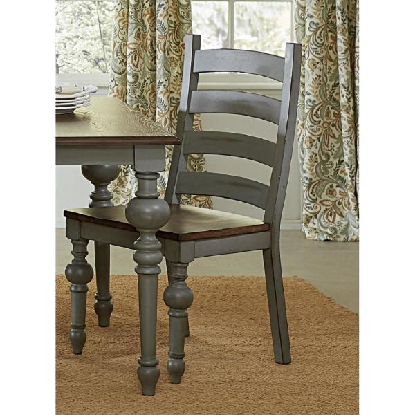 Progressive Furniture Colonnades Putty And Oak Ladder Dining