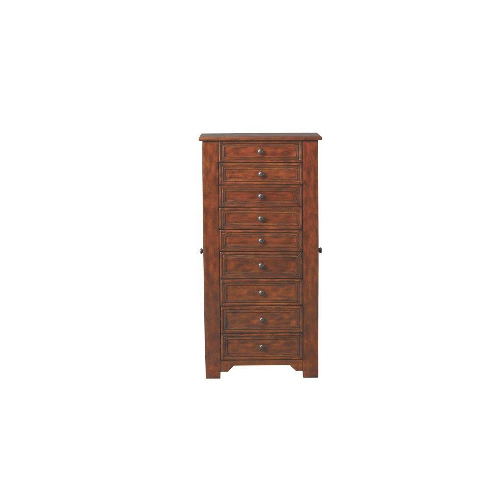 Home Decorators Collection Chestnut Jewelry Armoire 5026510970 The Home Depot