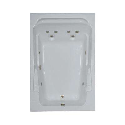 72 in. Acrylic Rectangular Drop-in Whirlpool Bathtub in White