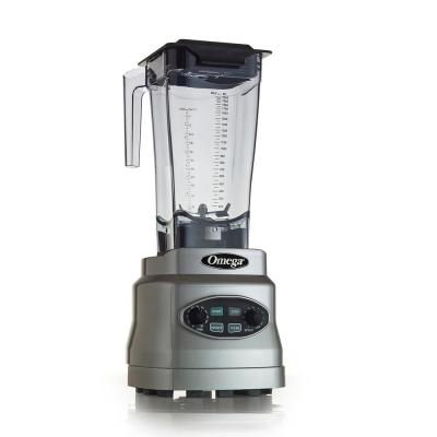 3 HP 64 oz. 11-Speed Silver Blender with Container Timer and Infinity Control