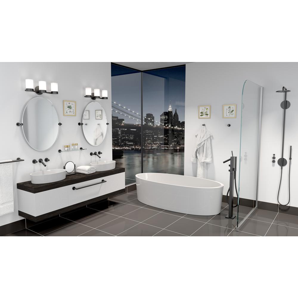 Gatco Glam Euro Toilet Paper Holder in Matte Black 4633MX