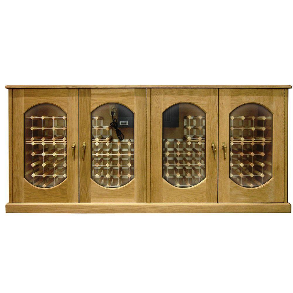 Vinotemp 304 Bottle Decorative Wine Cellar, Golden Oak-DISCONTINUED