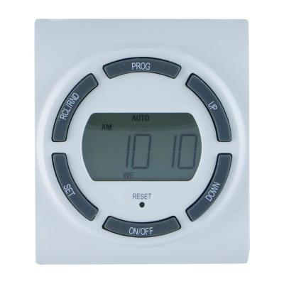 15 Amp 7-Day Indoor Plug-In SunSmart Digital Timer with 2-Grounded Outlets, White