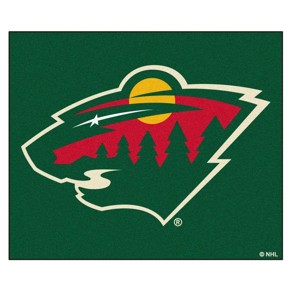 ad49b3cc060a2 FANMATS Minnesota Wild 5 ft. x 6 ft. Tailgater Rug-10395 - The Home ...