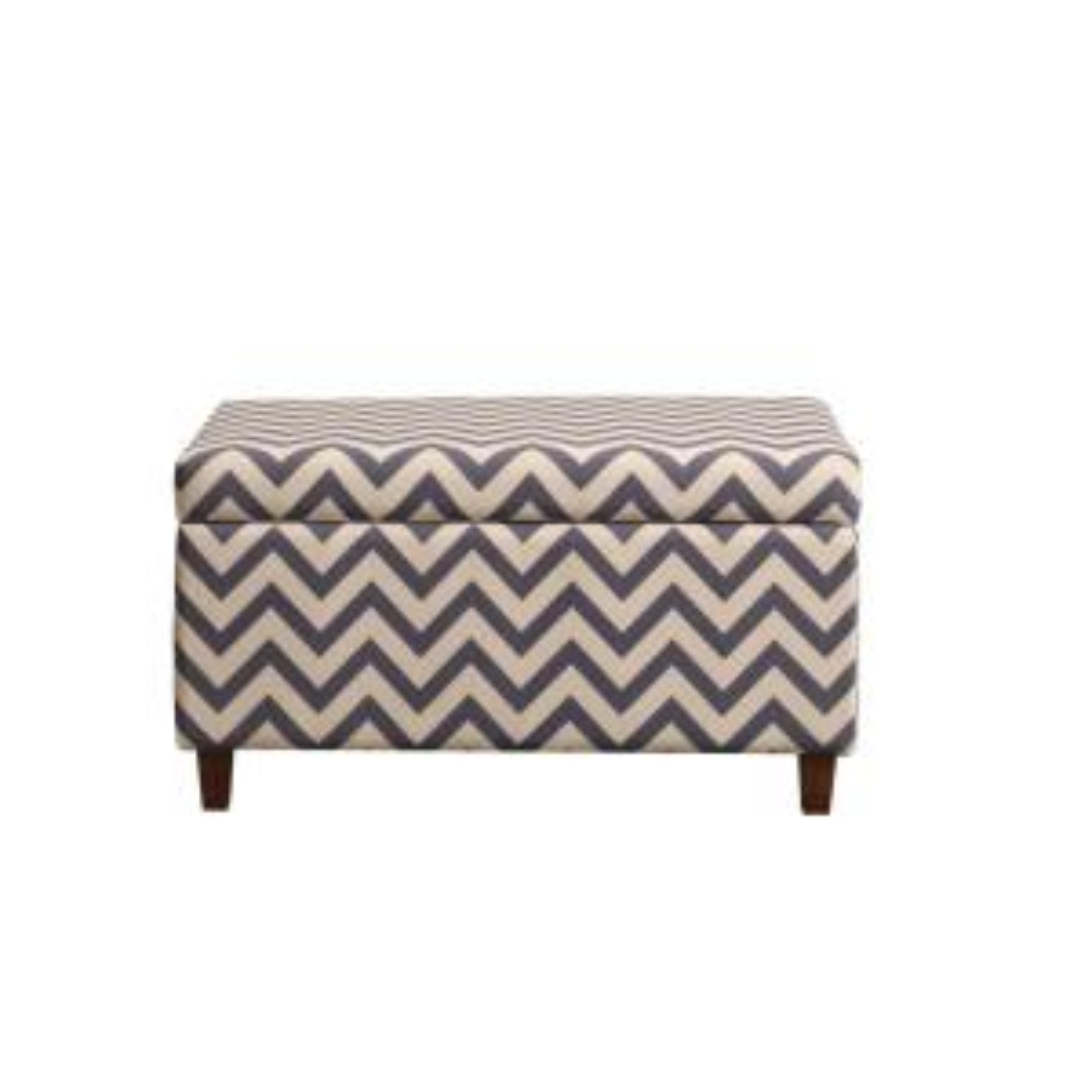 Enjoyable Dorel Living Chevron Gray White Storage Ottoman Fa4044 The Andrewgaddart Wooden Chair Designs For Living Room Andrewgaddartcom