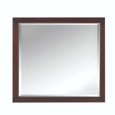 Highclere 36 in. x 33 in. Wood Framed Single Wall Mirror in Cocoa