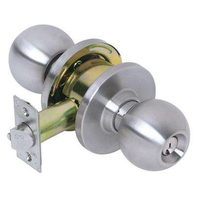 Empire Satin Stainless Steel Keyed Entry Ball Door Knob