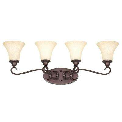 Limpus 4-Light Oil Rubbed Bronze Bath Vanity Light
