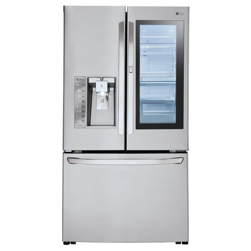 24 cu. ft. 3-Door French Door Refrigerator with InstaView Door-in-Door in Stainless Steel, Counter Depth