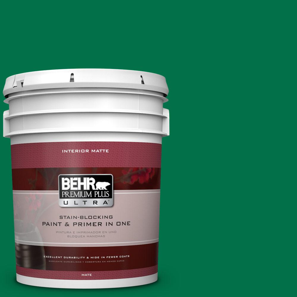 BEHR Premium Plus Ultra 5 gal. #470B-7 Climbing Ivy Flat/Matte Interior Paint