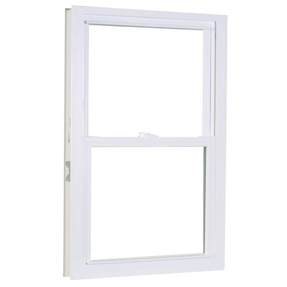 23.75 in. x 37.25 in. 50 Series Double Hung White Vinyl