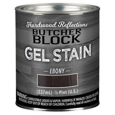 1/2 pt. Ebony Oil-Based Satin Interior Butcher Block Wood Gel Stain