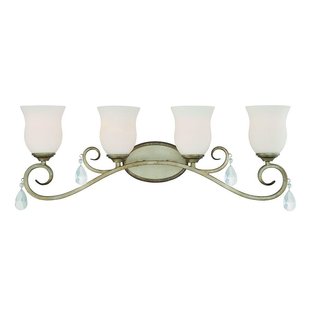 Gala 4-Light Argent Silver Interior Incandescent Bath Vanity Light