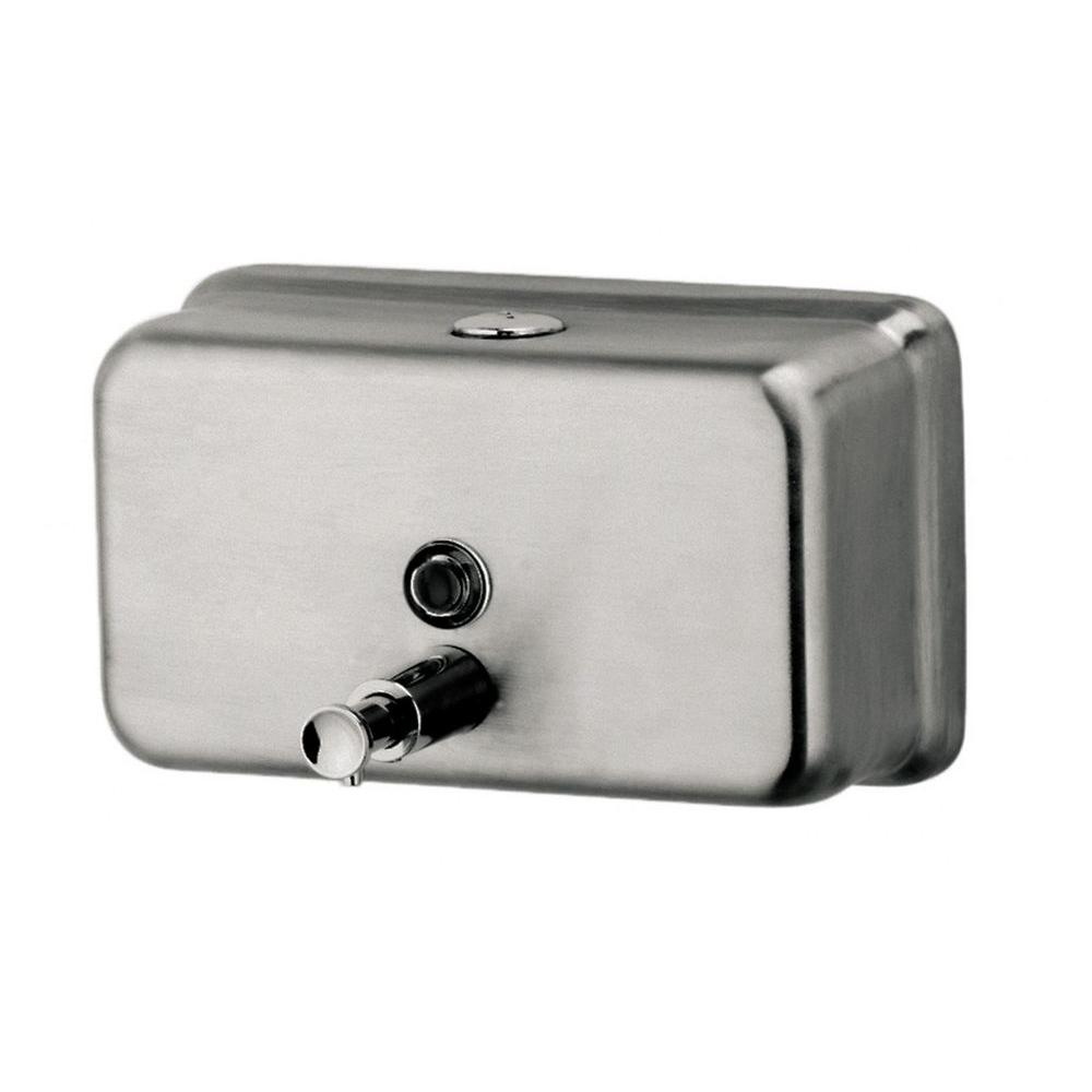 null Horizontal Liquid Soap Dispenser in Silver