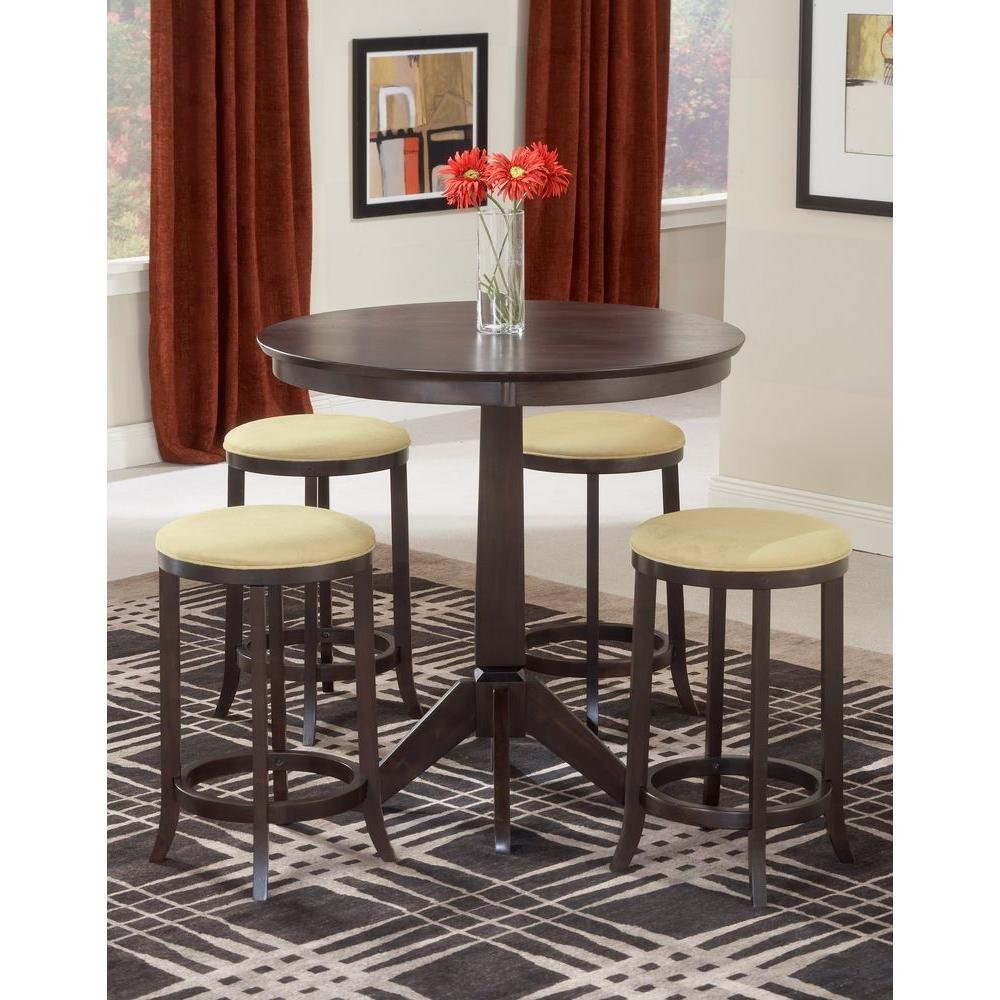 Hillsdale Furniture Tiburon 5-Piece Espresso Bar Table Set