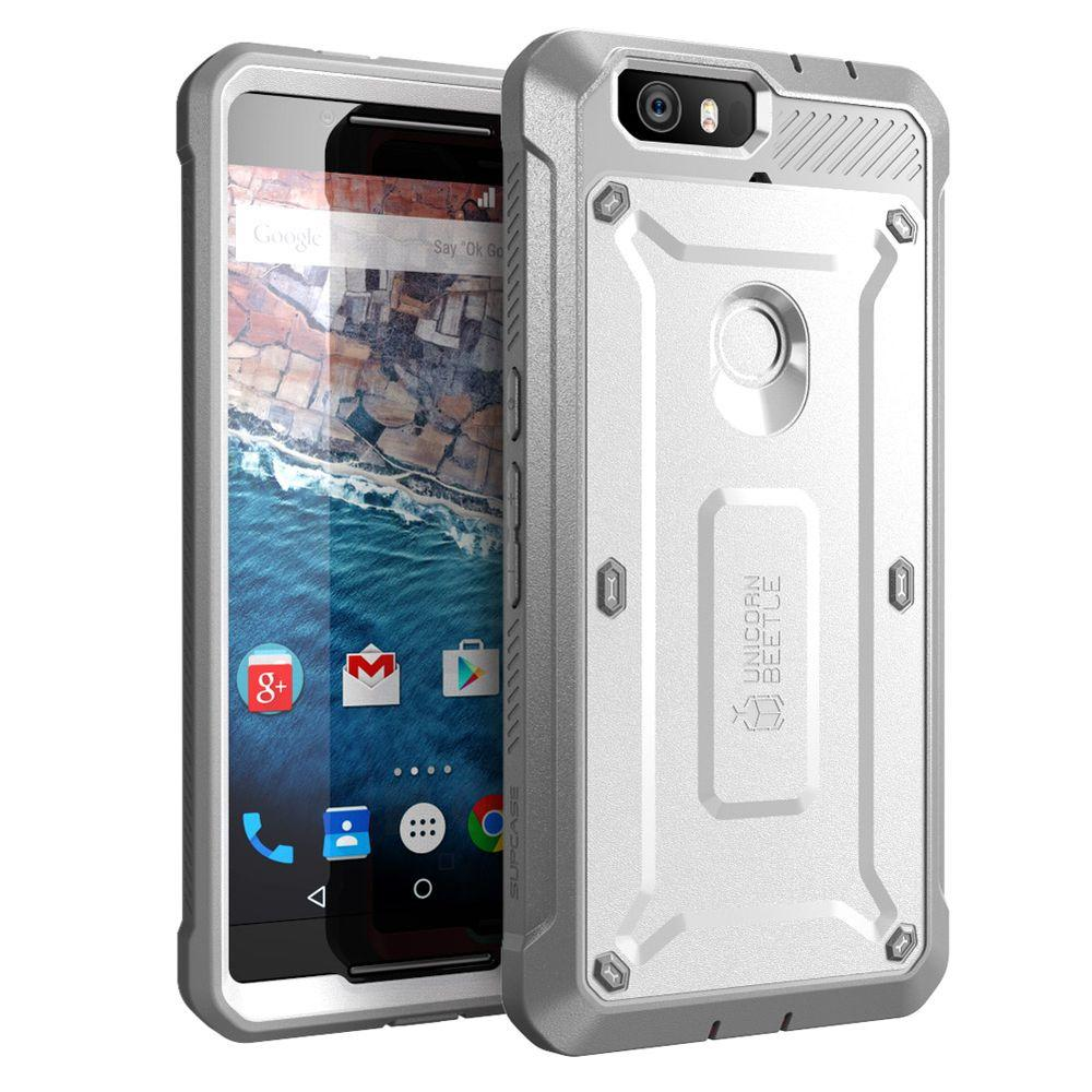 SUPCASE Unicorn Beetle Pro for Google Nexus 6, White/Gray