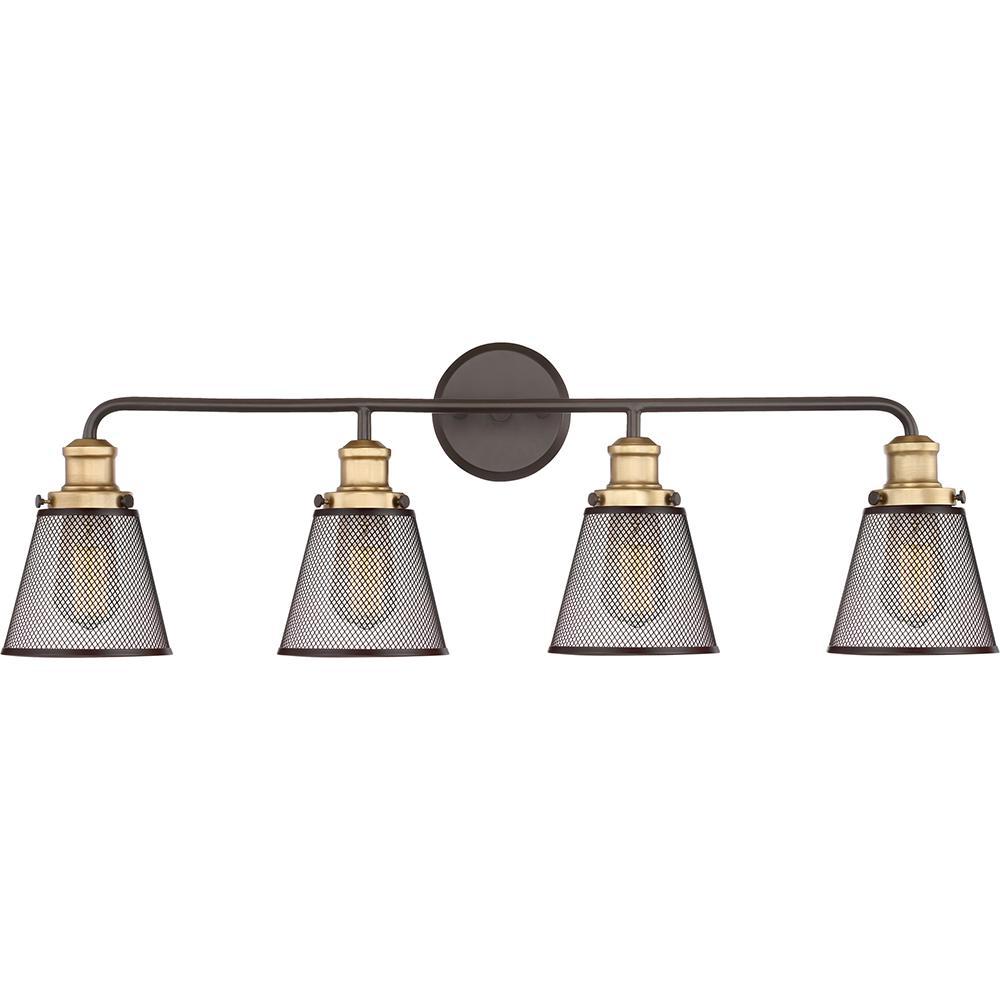 Vault 4-Light Western Bronze Vanity Light