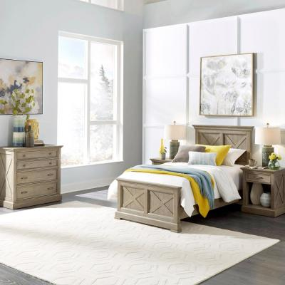 Mountain Lodge 3-Piece Gray Twin Bedroom Set