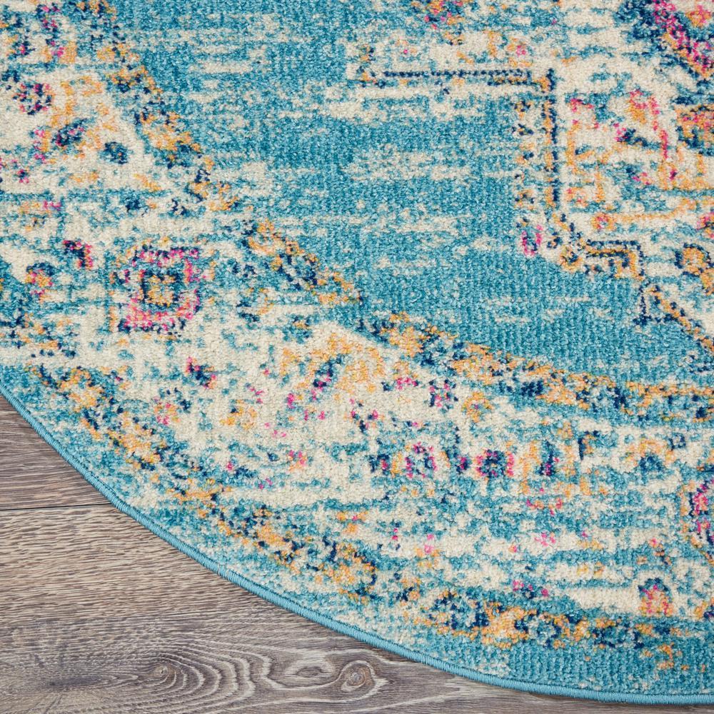 Light Blue 8 Ft X Round Area Rug