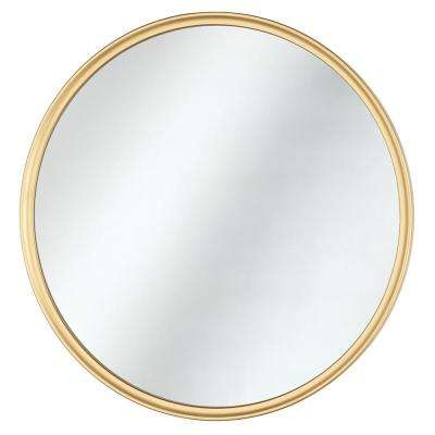 Framed Fog Free Round Mirror In Gold