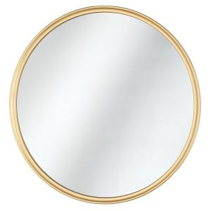 24 in. W x 24 in. H Framed Round Anti-Fog Bathroom Vanity Mirror in Gold