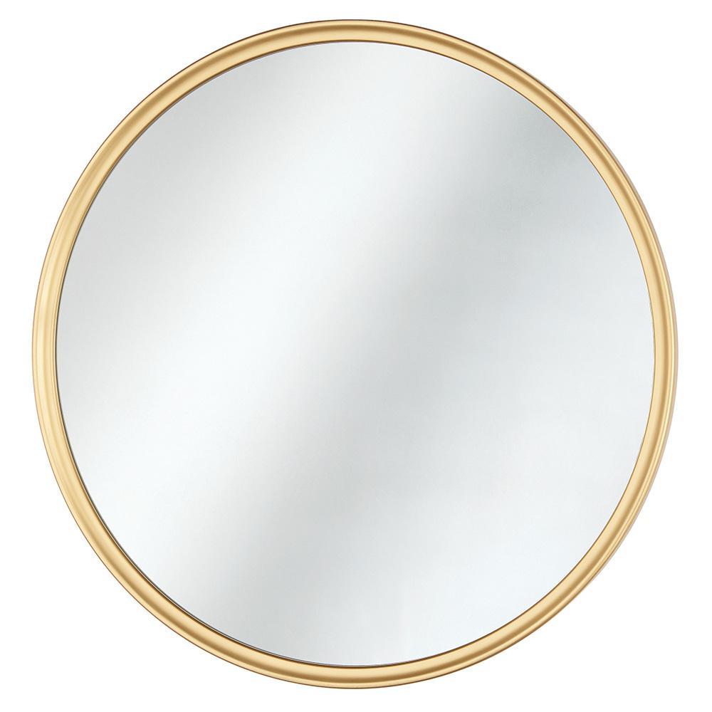 24 in. x 24 in. Framed Fog Free Round Mirror in Gold