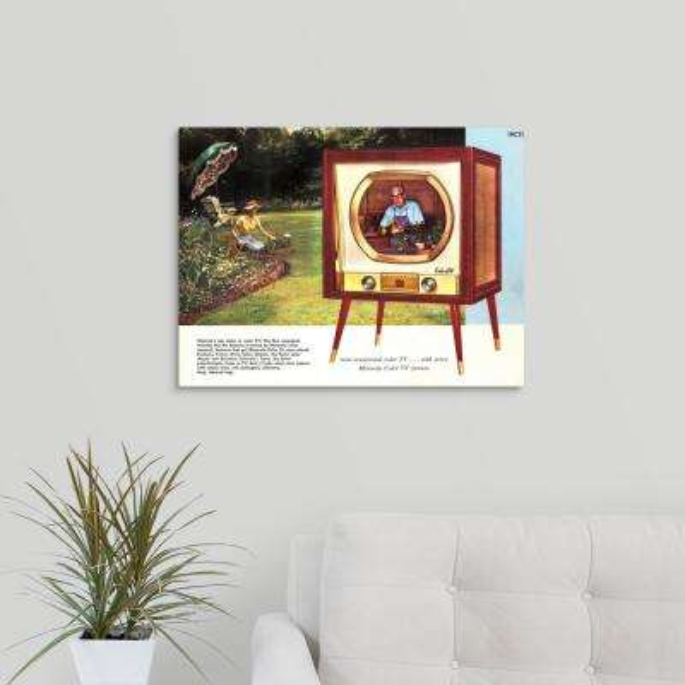 """Motorola Color TV Advertisement"" by Great BIG Canvas Canvas Wall Art"