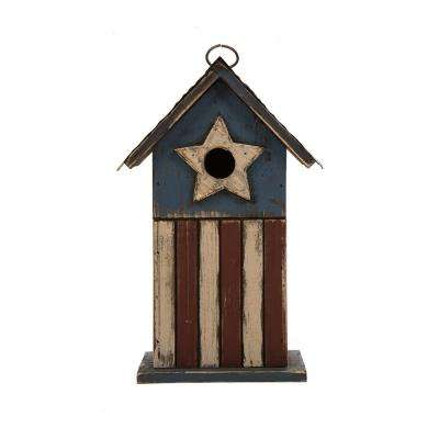 11.81 in. H Solid Wood Distressed Birdhouse