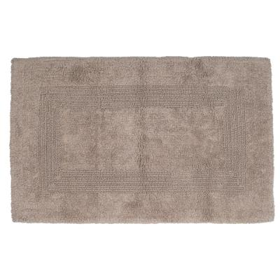 24 in. x 43 in. Cotton Reversible Bath Mat in Taupe