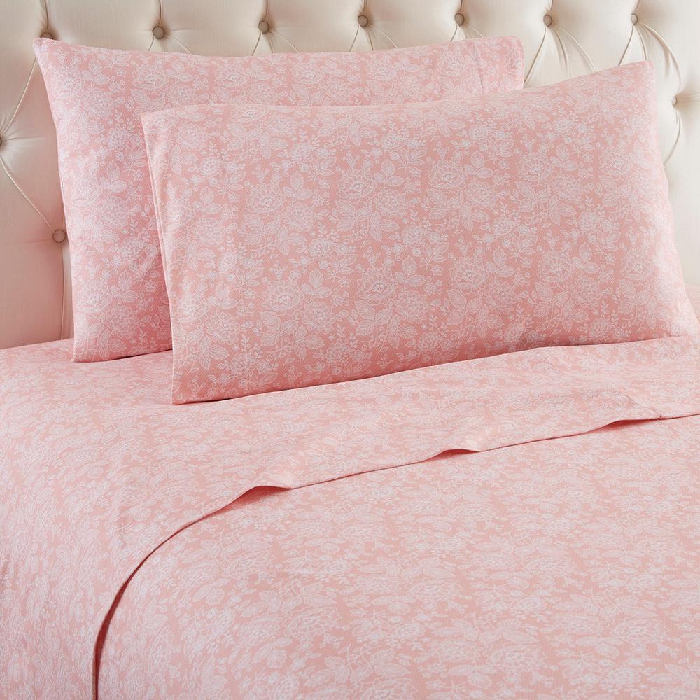 4-Piece Enchantment Rose King Polyester Sheet Set