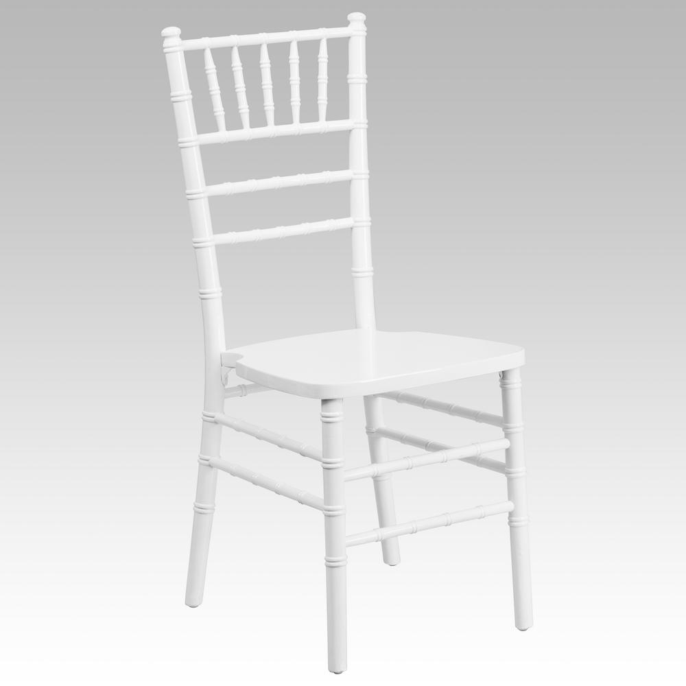 Hercules Series White Wood Chiavari Chair