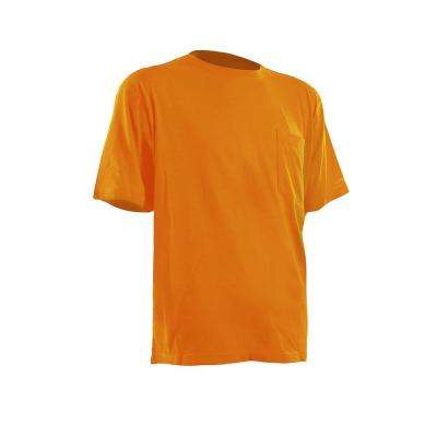 Men's Large Regular Gold Cotton and Polyester Light-Weight Performance T-Shirt
