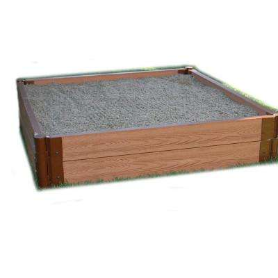 One Inch Series 4 ft. x 4 ft. x 11 in. Composite Square Sandbox Kit