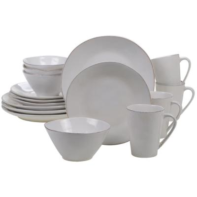 Harmony 16-Piece Cream Dinnerware Set