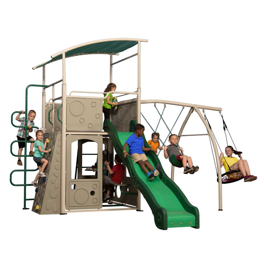 Castle Grey Swing Set