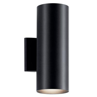 Independence 2-Light Black Outdoor Wall Cylinder Light
