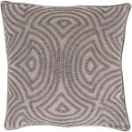 Habana Grey Geometric Polyester 20 in. x 20 in. Throw Pillow