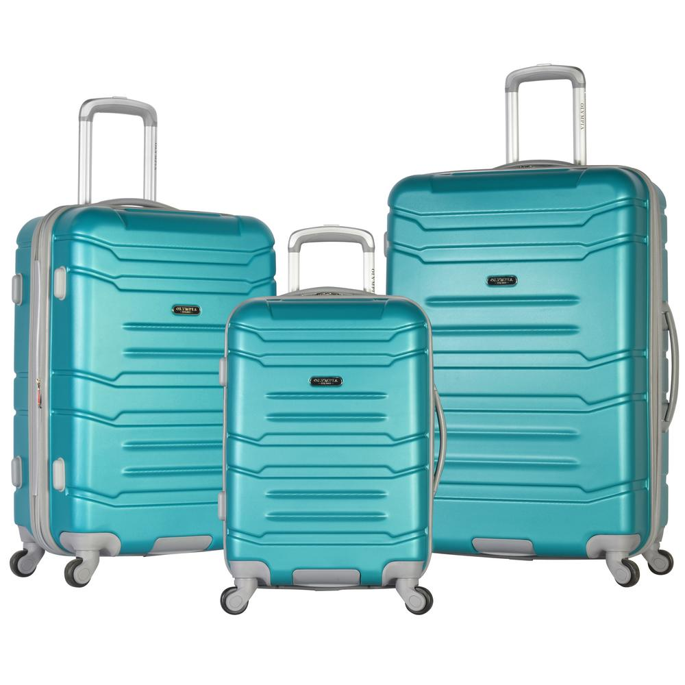 Olympia USA DENMARK 3-Piece ABS Expandable Hardcase Spinner Set, Blue was $500.0 now $250.0 (50.0% off)