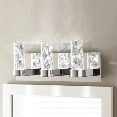 Cusseta 23-Watt Crystal Integrated LED 3-Light Vanity Light