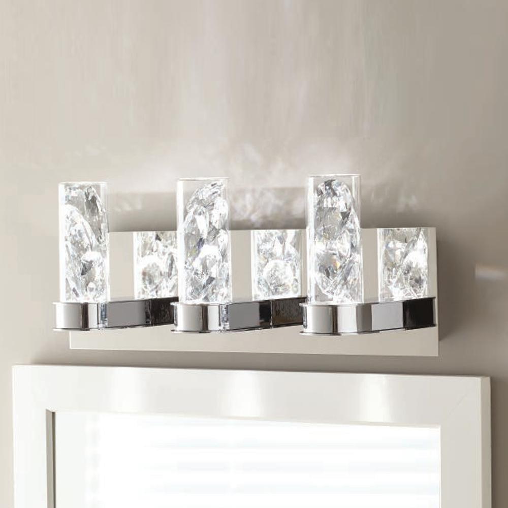 Cusseta 23-Watt Crystal Integrated LED 3-Light Vanity Light